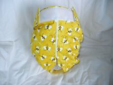 Female Dog Puppy Pet Diaper Washable Pant Sanitary Underwear WHITE BEES LARGE