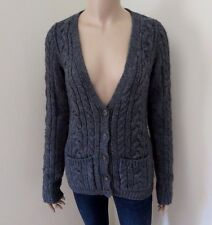 NWT Abercrombie Womens Wool Cardigan Sweater Size Medium Gray Top Shirt Chunky