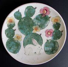 Animals & Co. Santa Fe, NM Art Pottery Mei Ming Ware Rabbit  Plate 11.5