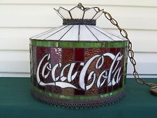 Coca Cola Leaded Glass Tiffany Style Stained Glass Swag Light Dale Tiffany Inc.