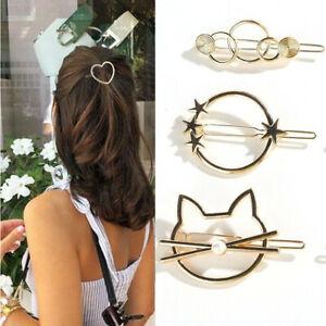 Girls Multi-style Metal Cat Crown Hair Pin Star Barrette Hair Clips Accessories