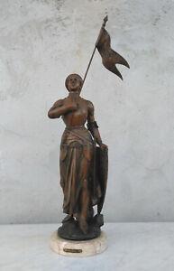 Statue Jeanne d'arc en régule A.j Scott