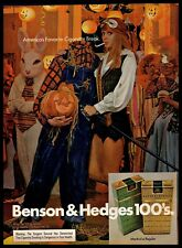 1973 Benson & Hedges Cigarettes Vintage PRINT AD Halloween Party Costumes 1970s