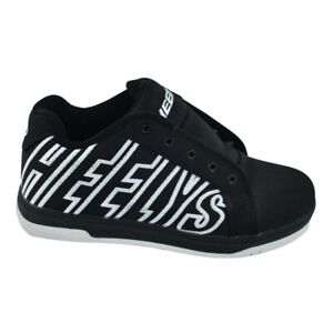 Heelys HE100050 Skate Shoes Youth 6 Black/White Lettering Excellent No Laces