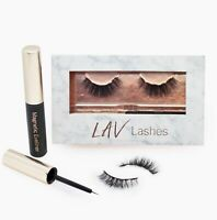 LAV Lashes-Magnetic Eyelashes and Magnetic Eyeliner Set-Natural Look - Reusable
