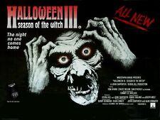 "HALLOWEEN III SEASON OF THE WITCH repro UK QUAD POSTER 30x40"" John Capenter 3"
