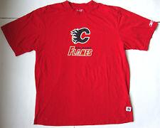Men's REEBOK CALGARY FLAMES T shirt size large L