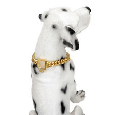 Corgis Dog Collar Solid Stainless Steel Dachshunds Collar Cuban Miami Chain