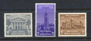36479) INDIA 1957 MNH**  Universities 3v