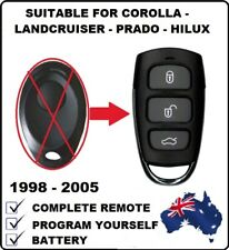 REMOTE FOB SUITABLE FOR TOYOTA PRADO LANDCRUISER HILUX COROLLA  1999 - 2007