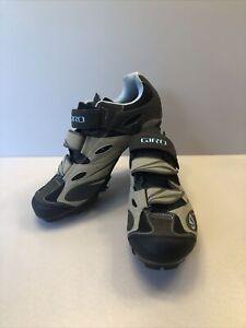 Giro Reva Womens Brown Tan Blue Mountain Cycling Shoes Size 9 US-W 38 EU