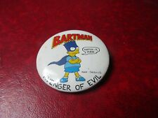 The Simpson's TV Show - 1989 Bartman Avenger of Evil Pin
