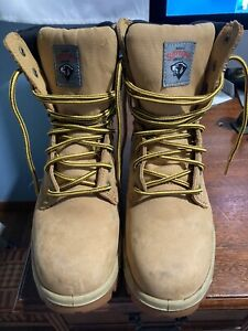 HERMAN SURVIVORS BROWN LACE UP STEEL TOE WORK BOOTS  MENS SIZE 6W