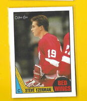 34648 STEVE YZERMAN 1987/88 O-PEE-CHEE DETROIT RED WINGS CARD #56 🏒