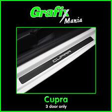 Seat Ibiza 'Cupra' Mk5 - Carbon Fibre Vinyl Door Sill Protector Guards Stickers