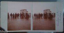 STC375 Plage de Boulogne sur mer kiosque roulant STEREO Photography Stereoview