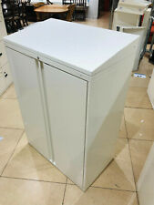 More details for metal 2 door office storage filing cabinet 2 shelves cupboard white walton