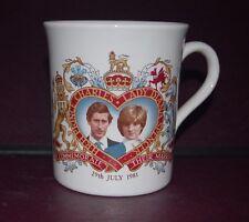 Commemorative Prince Charles and Diana Marriage COFFEE MUG 1981 wedding VTG