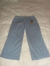 Cotton Low Rise Petite Capri, Cropped Trousers for Women