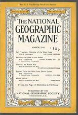National Geographic March 1943 San Francisco/Bolivia/Norway/Sydney/Malta Invicta