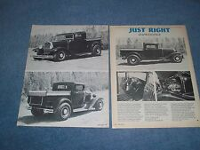 "1930 Ford Pickup Chopped Top Hot Rod Vintage Article ""Just Right"" ---From 1976--"