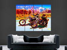 EASY RIDER POSTER PRINT FILM TRIPPY ART CHOPPER MOTORBIKE MOTORCYCLE BIKE