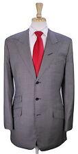 * EDGAR POMEROY * Bespoke Gray/Black Houndstooth Peak Lapel 2B Hacking Suit 40L