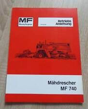Massey Ferguson Mähdrescher MF740 Betriebsanleitung