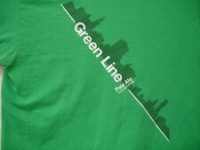 Green Line Pale Ale Goose Island Chicago Skyline T Shirt Large Green
