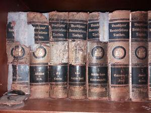 Brockhaus Konversationslexikon 14.Auflage 1892-1896 17 Bände