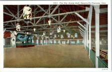 GENEVA-On-The-LAKE, Ohio  OH   Interior THE PIER DANCE HALL  c1940s  Postcard