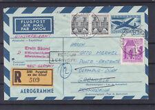 Reco Aerogramm Flugpost Frankreich Olympia Dorf aus Purgstall an der Erlauf