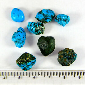 45.35Ctw Natural Turquoise Rough Mexican Mines Small Rocks Turquoise Rough Gems