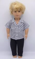 Dolls clothing to fit RAFAEL OUR GENERATION Doll 18in.Checked shirt & trousers