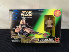NEW 1996 Star Wars Luke Skywalker Speeder Bike  Endor Gear (HKR70)