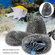 Fish Tank Pond Decorative Cichlid Stone Cave Shrimp Breeding Tank Ornament ST