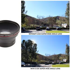 HD Auxiliary Super Wide Angle Lens Kit for DSLR Camera Canon Nikon Hi Def Optics