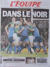 L'Equipe du 12/10/2015 - Coupe du Monde de rugby France-Irlande-Giroud-Volley