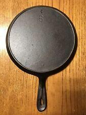Restored 1950's Lodge Vintage #6 Cast Iron Griddle