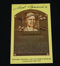 Luis Aparicio Chicago White Sox Signed Yellow Hof Plaque Postcard-Nm