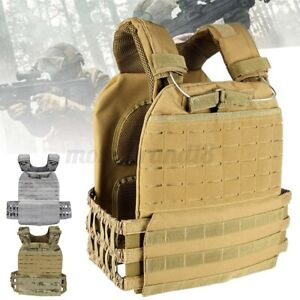Tactical Weight Vest Plate Carrier Adjustable Vest For Training Sport Xmas