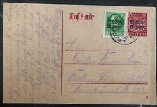 1920s Bayern Germany Postcard Postal Stationary Cover To Berlin