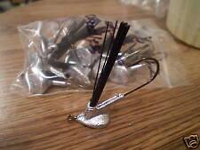 3/8 weedless standup jig head 3/0 hook 12 pk bass walle