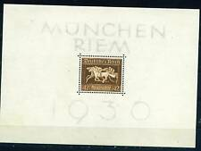 Germany WW2 Munich Horse Race Souvenir Sheet 1936 MLH