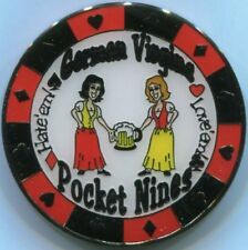 GERMAN VIRGINS - POCKET NINES Poker Card Guard cover protector 99 pair of nines