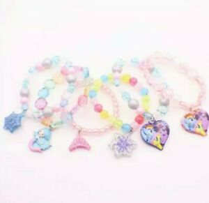 Kids children cartoon beads bracelet jewelry girls gift sparkely jewellery UK