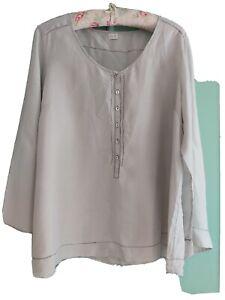 Poetry soft grey 100% silk top size 22 please read description