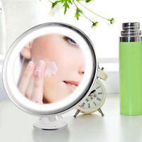 7 x Magnifying Round LED Illuminated Bathroom Make Up Cosmetic Shaving Mirror