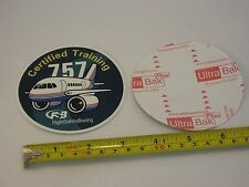 FlightSafety Boeing B-757 B757 Airlines aviation aircraft sticker NEW