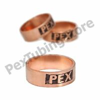 """(100) 1/2"""" PEX Copper Crimp Rings by Sioux Chief, Made in USA, ASTM/CSA, #649X2"""